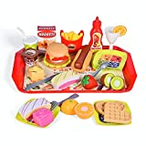 40 PCs Play Food Toys, Pretend Play Kitchen Set Cutting Fruits Play Kitchen Sets Toddlers Pretend Food Playset Children Toy Food Set
