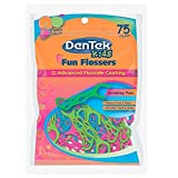 DenTek Kids Fun Flossers Wild Fruit | 75-Count Floss Picks | 4-Pack