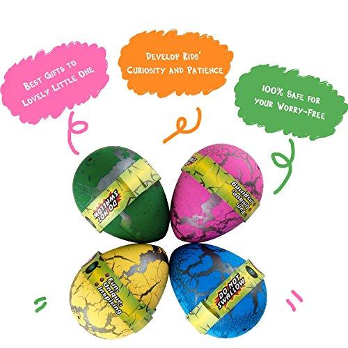 60pcs Easter Hatch and Grow Dinosaur Eggs Novelty Magic Toys for Kid, Random Color (Bulk)