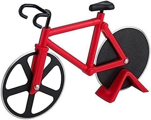Bicicleta rueda de corte cortador de Pizza Rueda antiadherente doble acero inoxidable mejor para vacaciones ...