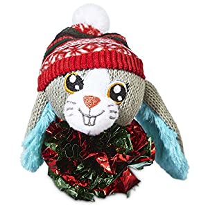 well-wreapped Time for Joy Mylar Ball Snow Bunny Cat Toy