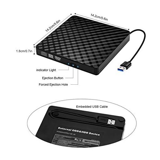 External CD Drive, BEVA Portable Slim USB 3 0 DVD CD Drive Burner RW  Writer, Copier, Reader, Player for Laptop, Notebook, Desktop, Mac, Support