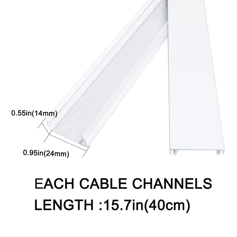 Home Office TV Wall Mounted Computer Organize Hide Cables Electronic Wire Cord Cover Raceway Kit-Cable Cover Combination 1 Cable Concealer Management Channel System