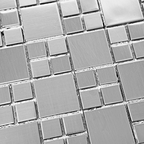 Stainless Steel Backsplash Tiles - 9