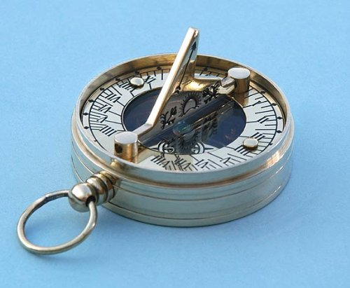 Stanley Sundial (Copper and Brass Small Pocket Sundial)
