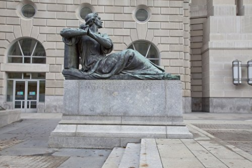 """Washington, D.C. Photo - Sculpture""""Liberty of Worship, Oscar S. Straus Memorial Fountain,"""" by Adolph Alexander Weinman at the Environmental Protection Agency, Ronald Reagan Building from Historic Pictoric"""