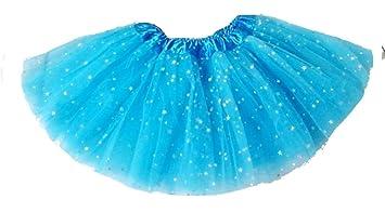 Falda de tul de ballet - niña - falda - purpurina - 2 capas ...