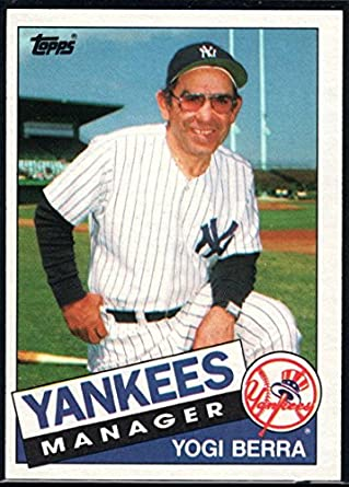 Amazoncom 1985 Topps Baseball 155 Yogi Berra New York Yankees Mg