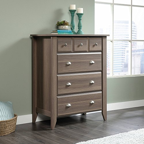 4-Drawer Chest, Diamond Ash, Drawers With Metal Runners and Safety Stops Feature Patented T-lock Assembly System, 3 Lower Drawers are Extra Deep, Assembly Required, Perfect for Bedroom, Living Room