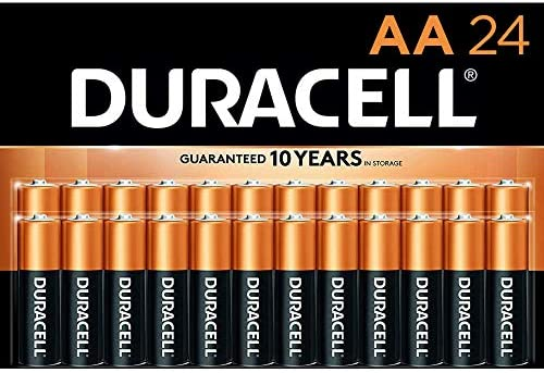 Duracell - CopperTop AA Alkaline Batteries - lengthy lasting, all-purpose Double A battery for family and industry - 24 Count