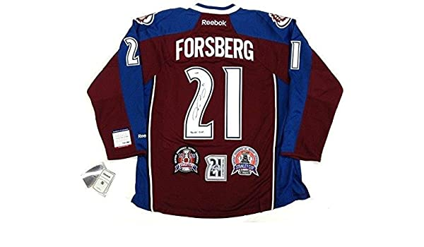 save off 1357f 96a46 Signed Peter Forsberg Jersey - 3 Patch Cup - PSA/DNA ...
