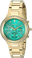 CARAVELLE NEW YORK Women's 44L215 Swarovski Crystal  Gold Tone W