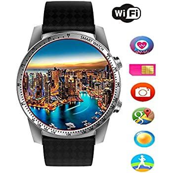Efanr KW99 Round Bluetooth Smart Watch Unlocked Android 5.1 Wrist Phone SIM 3G WIFI Touchscreen Smartwatch Call Heart Rate Monitor Pedometer for Android ...