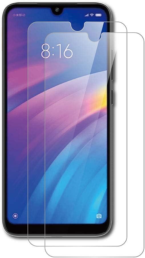 AICEK [2-Pack Protector de Pantalla Xiaomi Redmi 7, Cristal Templado para Xiaomi Redmi 7 Vidrio Templado Redmi 7 Cristal Screen Protector (6,26 Pulgadas)