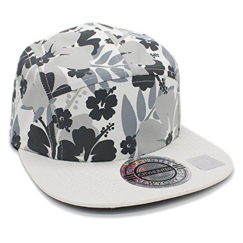 white 5 panel hat - 9