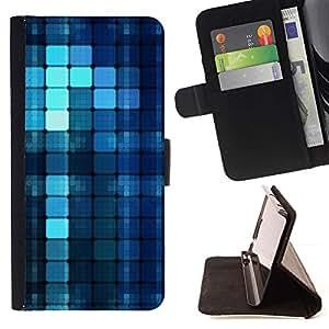 For Apple iPhone SE / iPhone 5 / iPhone 5S Case , Motif bleu - la tarjeta de Crédito Slots PU Funda de cuero Monedero caso cubierta de piel