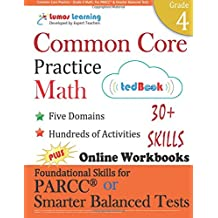 Common Core Practice - Grade 4 Math: Workbooks to Prepare for the PARCC or Smarter Balanced Test: CCSS Aligned...