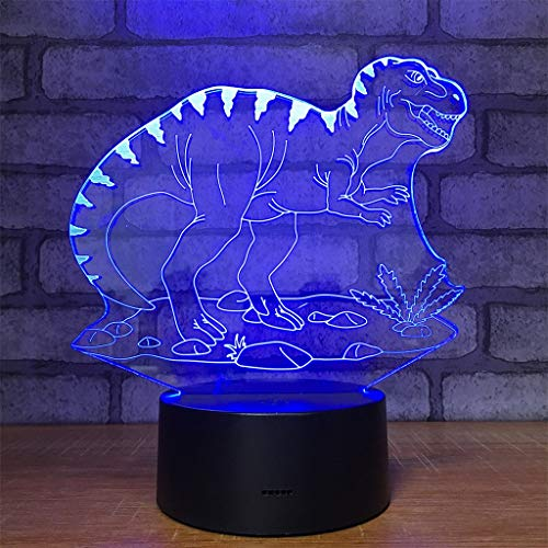 (Dinosaur Light,Dinosaur Lamp,Dinosaur Night Light Kids 7 Colors Change Remote Control with Timer Optical Illusion Kids Lamp As a Gift Ideas for Boys or Kids)
