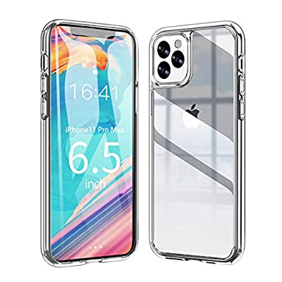 Ztotop Vitreous Luster Series Case for iPhone 11 Pro, Clear Tempered Glass Back Panel & Soft Silicone Bumper Frame with Anti-Scratch Shockproof Protection for iPhone 11 Case