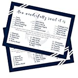 Nautical Baby Shower Candy Bar Game Card Set of 25