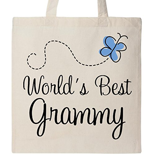 Inktastic - Grammy Butterfly Tote Bag Natural 10d74