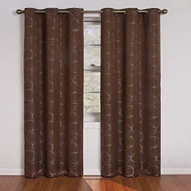 Eclipse Meridian Blackout Grommet Window Panel, 42-Inch By 84-Inch, Chocolate