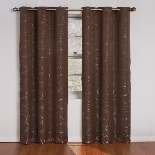 Single Draft King Black (Eclipse 11250042X084CH Meridian 42-Inch By 84-Inch Blackout Single Window Curtain Panel, Chocolate)