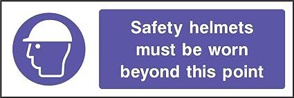 Cascos de seguridad Obligatorio Epi Pegatina de advertencia de alarma