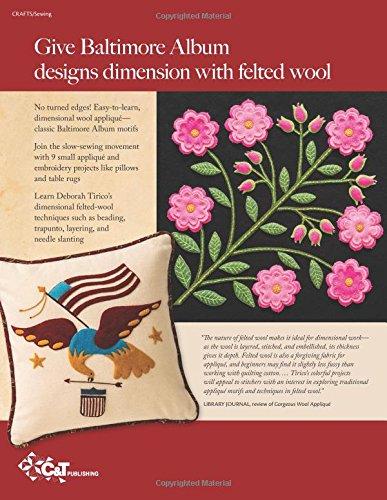 A New Dimension in Wool Appliqué - Baltimore Album Style: Visual Guide - Unique Embroidery