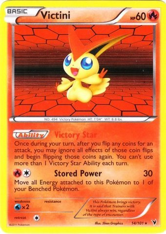 Pokemon - Victini (14) - BW - Noble Victories - Holo
