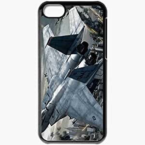 Personalized iPhone 5C Cell phone Case/Cover Skin Ace Combat Fighter City Fight Fuselage Black