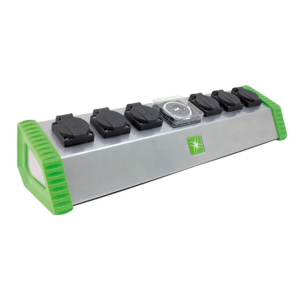 LUMii 6Sockel leistungsschütze Timer Beleuchtung Hydrokultur