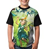 The Jungle Elves Kids Girls Graphic Short Sleeve Funny Crew Neck Tee X-Small