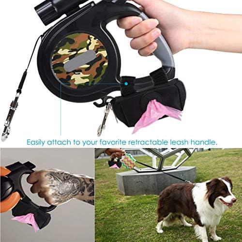 Jinxuny Bolsa de desperdicios Dispensador para Perros Holder Bolsa Holder Pet Puppy Poop Bolsa dispensador para Caminar Correr y Caminar Bolsa para Perros Poo Accesorio