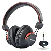 Avantree 40hrs DUAL Mode Bluetooth Over Ear Headphones with Mic, Super COMFORT, Wireless & Wired, aptX Hi-fi NFC Headset, Lightweight, 2 Year Warranty