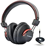 Avantree 40 hr Bluetooth Over Ear Headphones with Mic, Wireless / Wired, aptX HiFi Headset (Not Low Latency), Extra COMFORTABLE and LIGHTWEIGHT, NFC - Audition [2-Year Warranty]