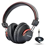 Avantree 40 hr Wireless Wired Bluetooth Over Ear Headphones with Mic, aptX HiFi Headset, Extra COMFORTABLE and LIGHTWEIGHT, NFC, Stereo for PC Cell Phone Laptop - Audition [24M Warranty]