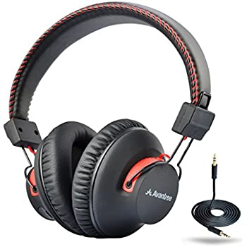 Avantree 40 hr Wireless / Wired Bluetooth 4.0 Over-the-Ear Headphones / Headset with Mic, aptX (Not Low Latency), Extra COMFORTABLE and LIGHTWEIGHT, NFC, DUAL Mode - Audition [2-Year Warranty]