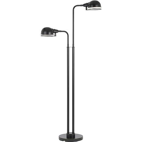 Amazon.com: Lámpara de pie 2 lámparas de luz con acabado en ...