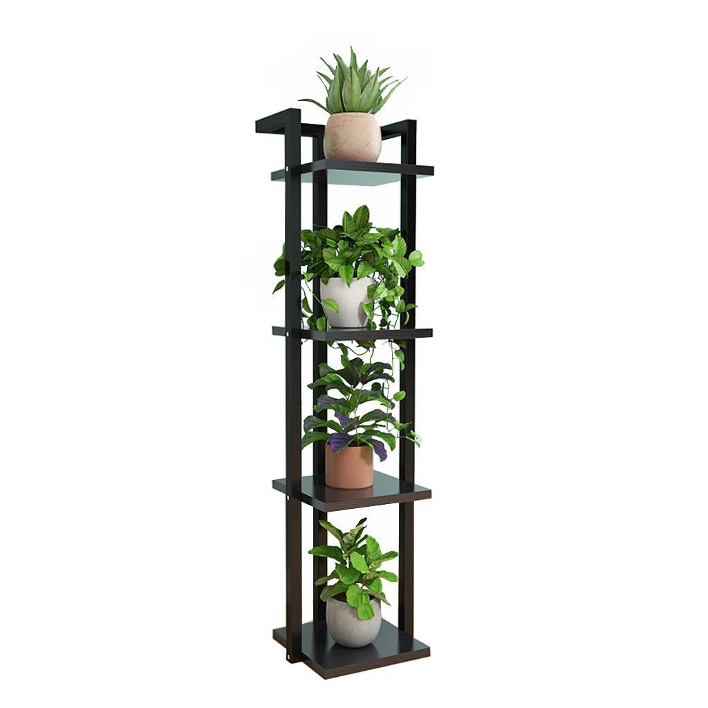 nero Corner Stand 3 4 5 Layer Flower Rack Ferro Metallo Vaso di Fiori Espositore Soggiorno Balcone Tipo di Pavimento Mensola Multifunzione Indoor e Outdoor