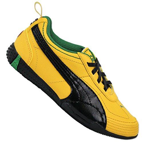 Puma Originals Alsten II PS Kids Niños Zapatillas piel Zapatillas Amarillo Negro amarillo
