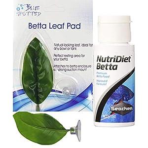 Blue Spotted Betta Plant Leaf Pads for Betta Fish, Tropical Fish Aquariums & Saltwater Fish Aquariums 10