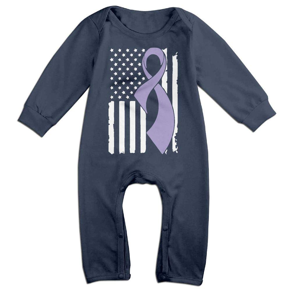 TYLER DEAN Toddler Baby Boy Girl Long Sleeved Coveralls Testicular Cancer Awareness Flag-1 Baby Clothes
