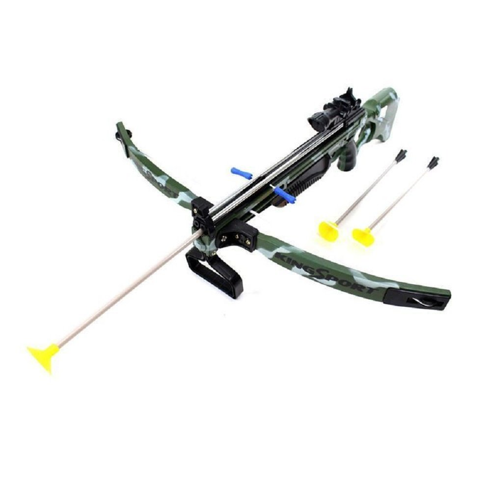 Toy Crossbow for Kids with Flexible Suction Cup Arrows, Soft Bendable Tips, Safety Switch, Sealed Mock Scope, Soft Power and Premium Built Durability