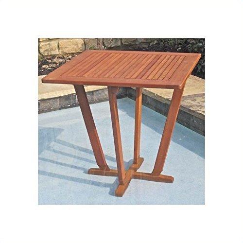 International Caravan TT-ST-015-IC Furniture Piece Royal Tahiti Outdoor 28″ Square Inverted Pyramid Table