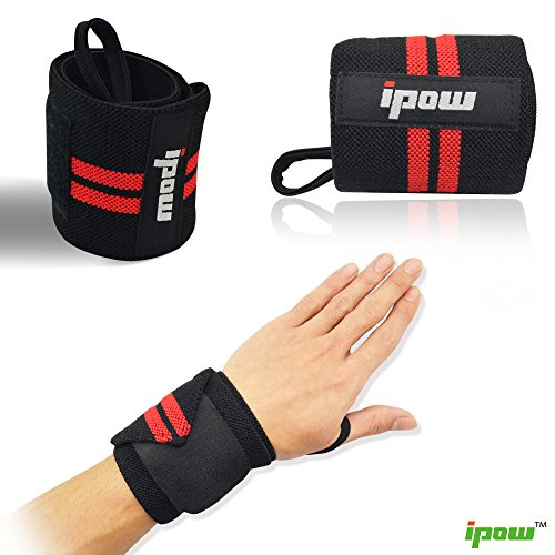f89f9e3206f Ipow Adjustable Weight Lifting Training Wrist Straps Support Braces Wraps  Belt Protector for Weightlifting Crossfit Powerlifting