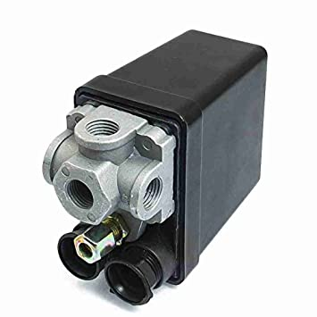 4 puerto TTcity 20A 175 PSI Compresor de aire válvula Control Presostato 12 Bar: Amazon.es: Bricolaje y herramientas