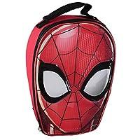 Marvel Spider-man cara en forma aislada lonchera aislado negro y rojo