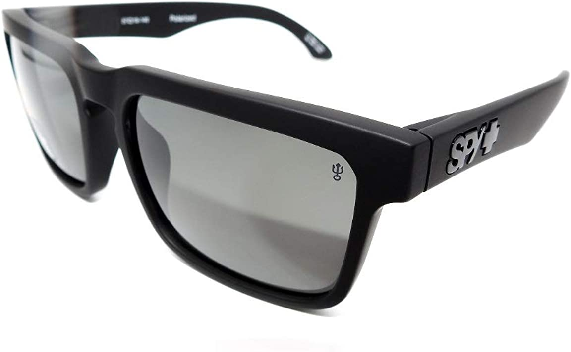Authentic Spy Optic Helm Polarized Matte Black Sunglasses 183015374135 *NEW*