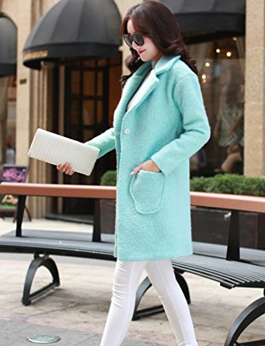 Épaissir Bleu Femmes Casual Veste Manteau Trench Coat Wanyang D'hiver Chaud ROg4wxq